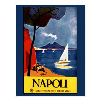 Postal de Napoli del vintage (Nápoles) Italia