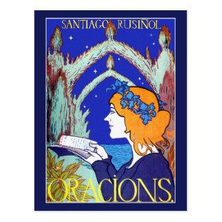 Postal de Nouveau del arte: Publicidad del vintage