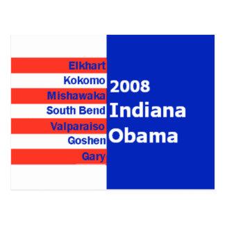 Postal de Obama INDIANA