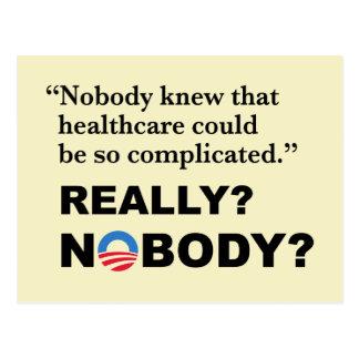 Postal de Obamacare del Anti-Triunfo