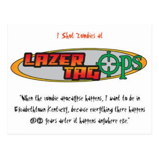 Postal de Ops de la etiqueta de Lazer