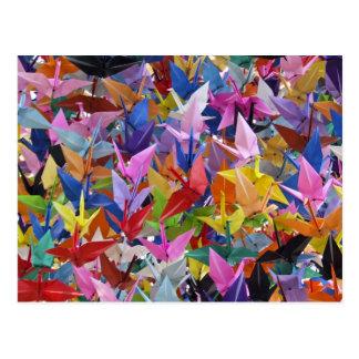 Postal de papel de 1.000 grúas de Origami