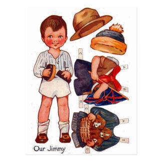 Postal de Paperdoll Little Boy Jimmy del vintage