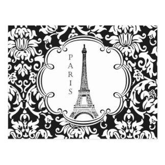 Postal de París de la torre Eiffel del vintage