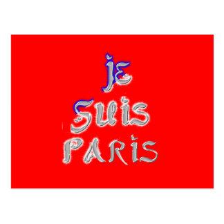 Postal de París del amor de Je Suis París I