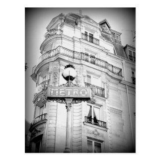 Postal de París del estilo del vintage, muestra