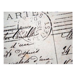 Postal de París del vintage, Cher Camilo….
