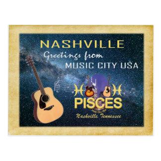 Postal de Piscis del zodiaco de Nashville