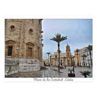 Postal de Plaza de la Catedral ,Cádiz