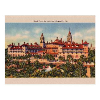 Postal de Ponce De León St Augustine del hotel del