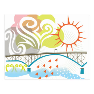 Postal de Portland del puente de la isla de Ross