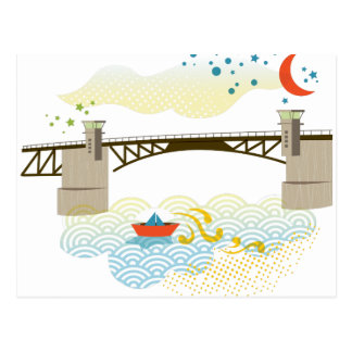 Postal de Portland del puente de Morrison