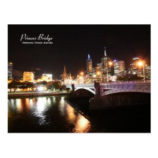 Postal de príncipes Bridge Melbourne Australia