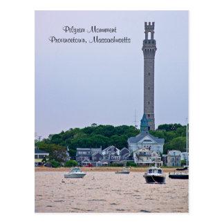 Postal de Provincetown mA del monumento del