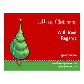 Postal de recuerdos del árbol de navidad red2