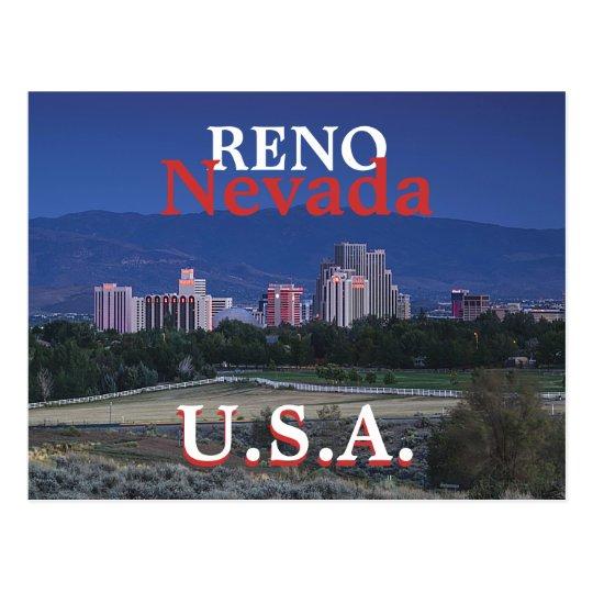 Postal de Reno los E.E.U.U.