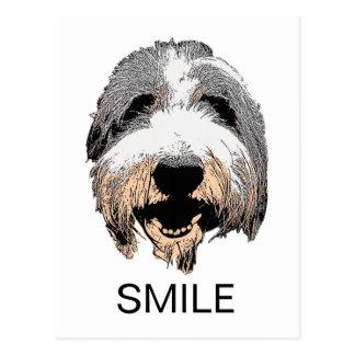 Postal de risa de la SONRISA del perro
