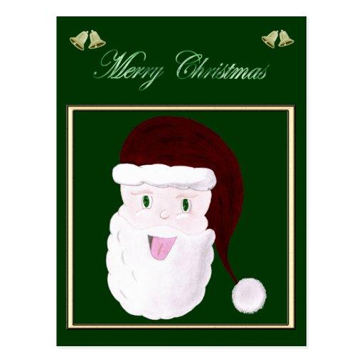 Postal de risa de Santa (roja)