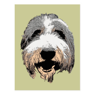 Postal de risa del arte pop del perro