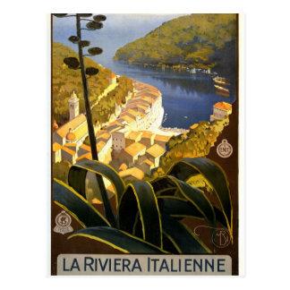 Postal de Riviera del italiano del vintage