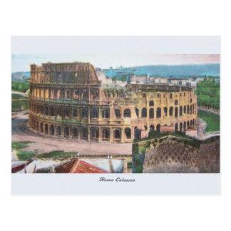 Postal de Roma Colosseum del vintage