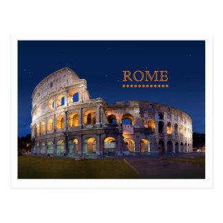 Postal de Roma del coliseo
