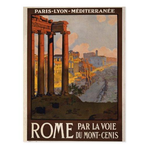 Postal de Roma Saturn del vintage