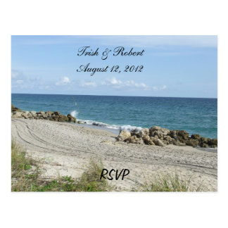 Postal de RSVP de la playa de la Florida