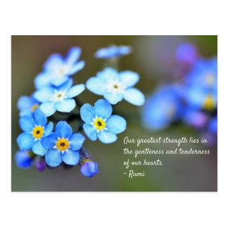 Postal de Rumi. Cita inspirada el vida