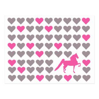 Postal de Saddlebred - amor de Saddlebred del