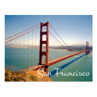 Postal de San Francisco CA de puente Golden Gate