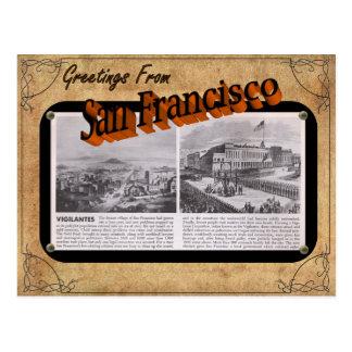 Postal de San Francisco de la apariencia vintage