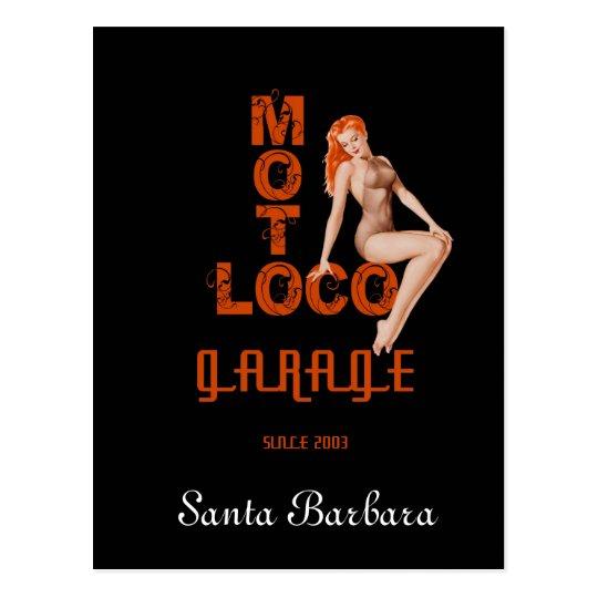 """Postal de """"Santa Barbara"""" del loco de Moto"""