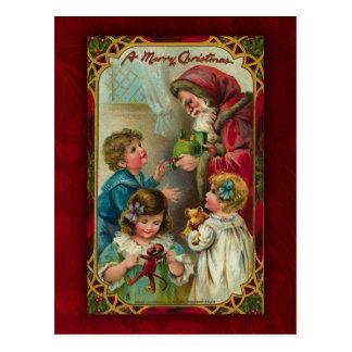 Postal de Santa del vintage