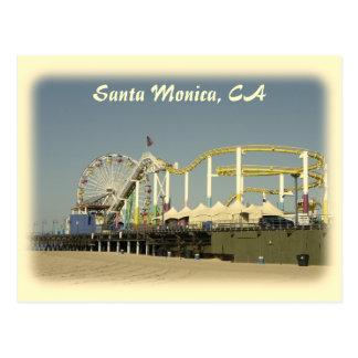 ¡Postal de Santa Mónica del estilo del vintage!