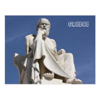 Postal de Sócrates de Grecia