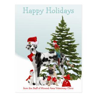 Postal De sus mascotas veterinarios de Santa