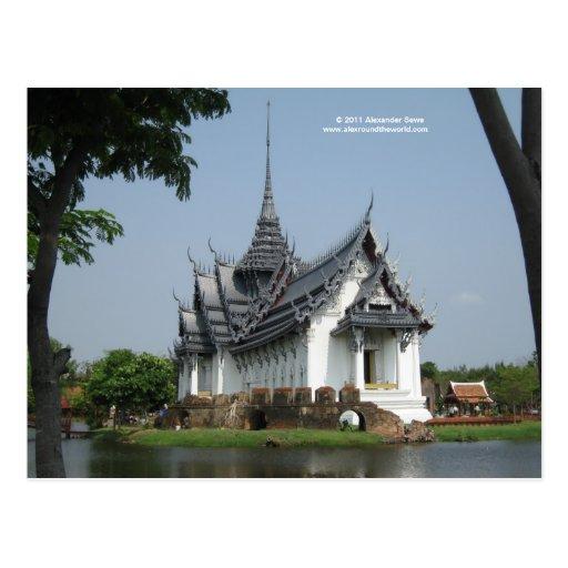 Postal de Tailandia con la imagen del templo