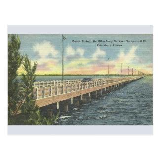 Postal de Tampa St Petersburg del puente de Gandy