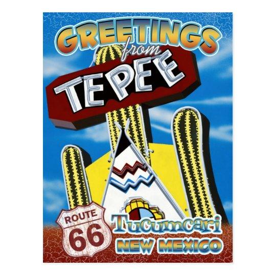 Postal de Tucumcari New México de los saludos de