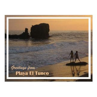 Postal de Tunco - 2 chicas