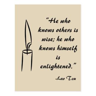 Postal de Tzu Enlightement del Lao