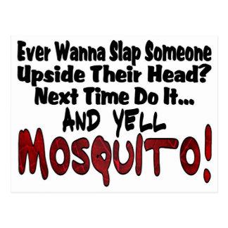 Postal Dé una palmada me y al mosquito
