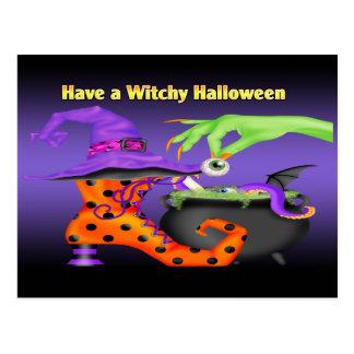 Postal de Witchy Halloween