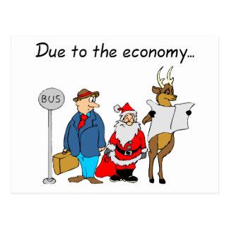 Postal Debido a la economía Santa
