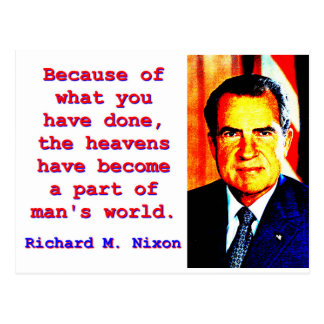 Postal Debido a lo que usted ha hecho - Richard Nixon