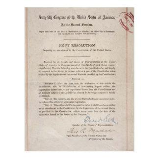 Postal Décimo octava enmienda de la prohibición