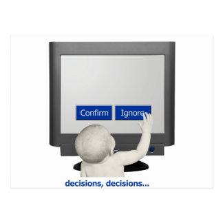 Postal Decisiones, decisiones…
