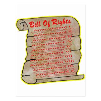 Postal Declaración de Derechos americana