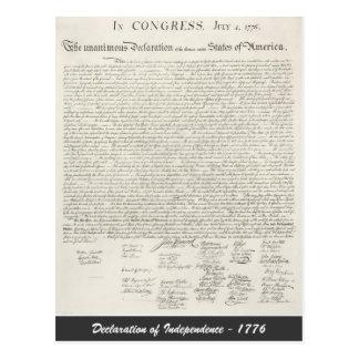 Postal Declaración de Independencia - 1776